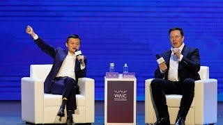 Jack Ma vs. Elon Musk at World AI Conference