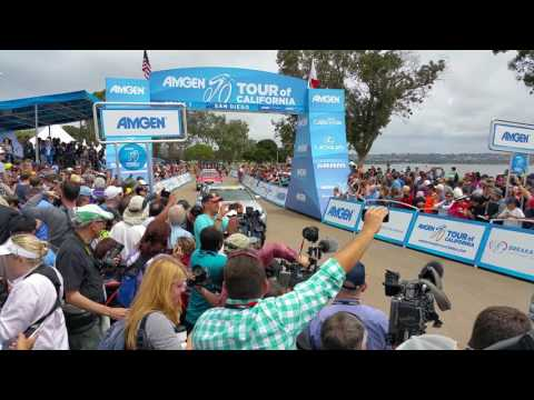 Tour of California 2016 San Diego stage 1 start they are off!