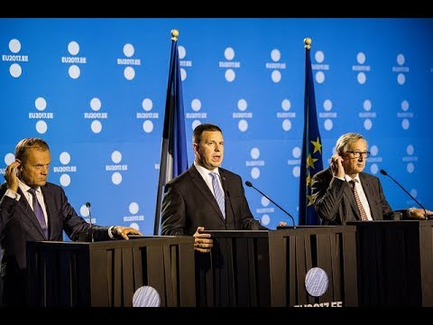 Tallinn Digital Summit – Joint press conference of Jüri Ratas, Jean-Claude Juncker and Donald Tusk