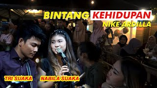 Download Lagu BINTANG KEHIDUPAN - NIKE ARDILLA (LIRIK) LIVE AKUSTIK COVER BY NABILA SUAKA FT TRISUAKA mp3