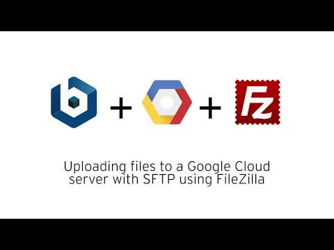 Uploading files to a Google Cloud server with SFTP using