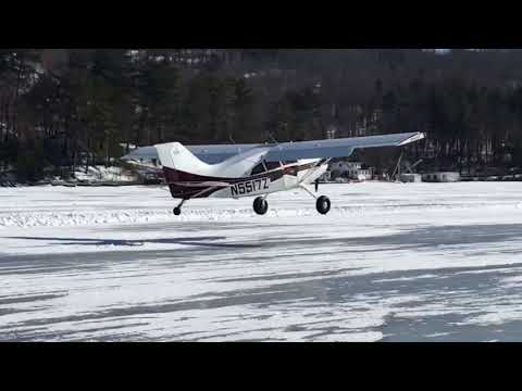 Alton Bay Ice Runway Flying Arrivals