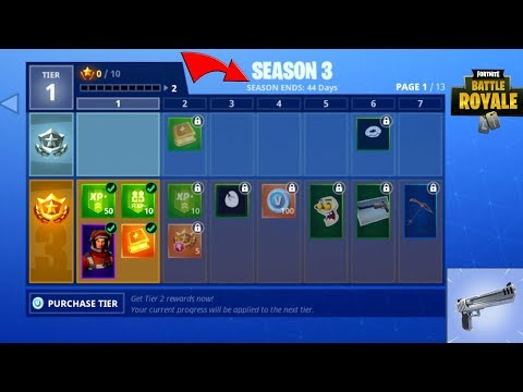 Fortnite Season 3 Gameplay + Hitting 200,000 Subscribers! (100 Tiers, New Weapons, 76 New Items)