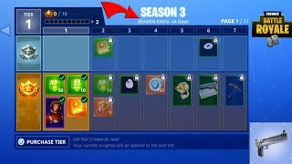 Fortnite Season 3 Gameplay + Hitting 200,000 Subscribers! (100 Tiers, New Weapons, 76 New Items) thumbnail