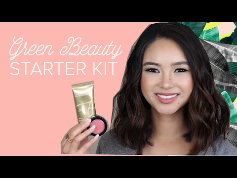 GREEN BEAUTY MAKEUP STARTER KIT! (Updated 2017) All-Natural/