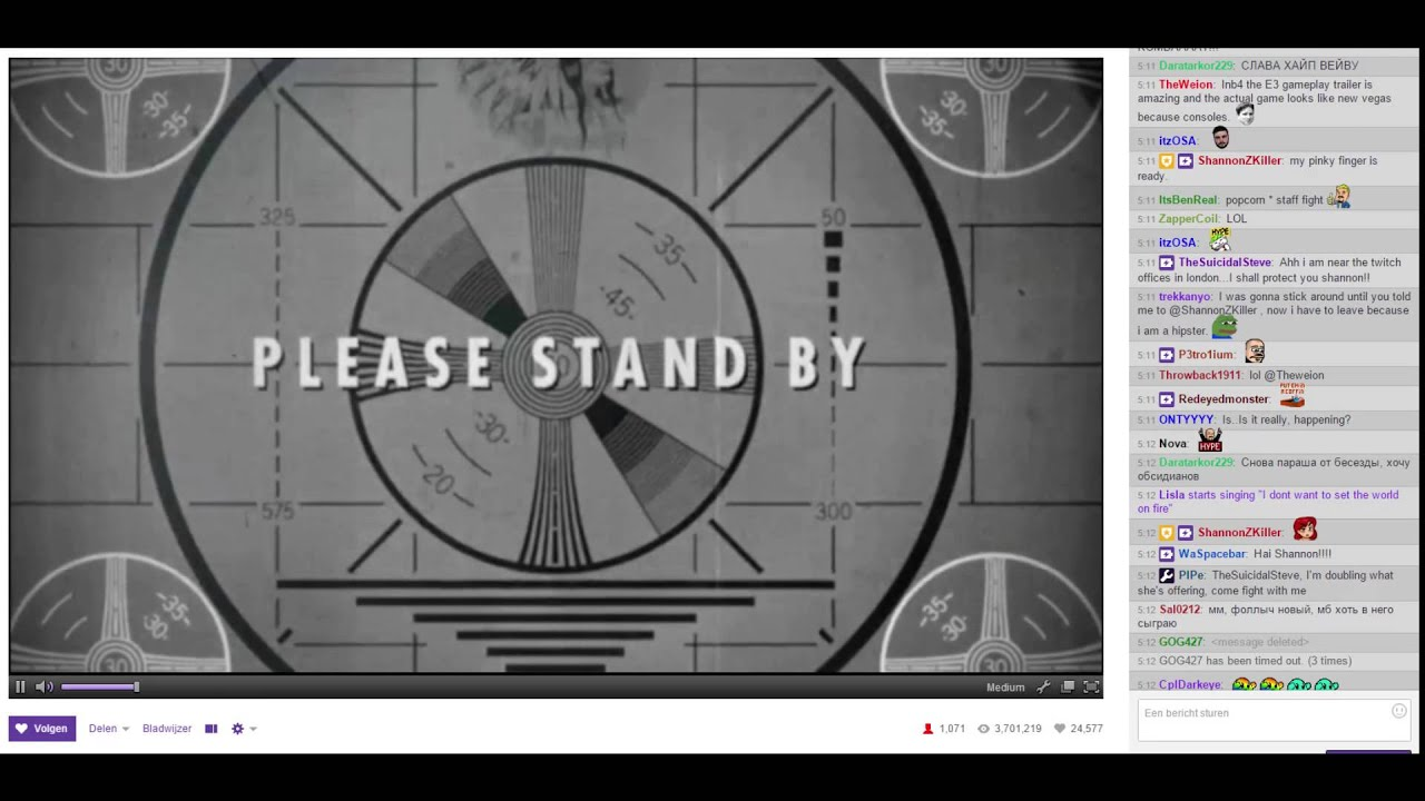 Bethesda Twitch Stream This Is What You Ll See Please Stand By