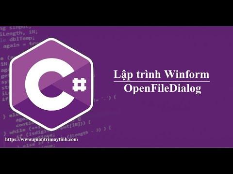 Lập trình C# winform -  OpenFileDialog