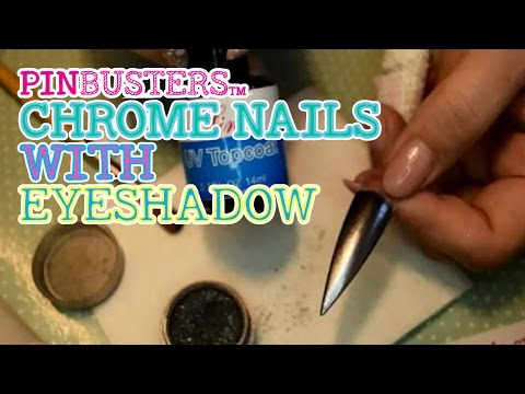 Diy Chrome Nails W Eye Shadow Does This Really Work