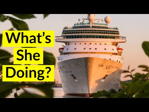 Why Do EMPTY CRUISE SHIPS Keep Visiting Ports? Ghost Cruise Ships Sailing To Unusual Locations.
