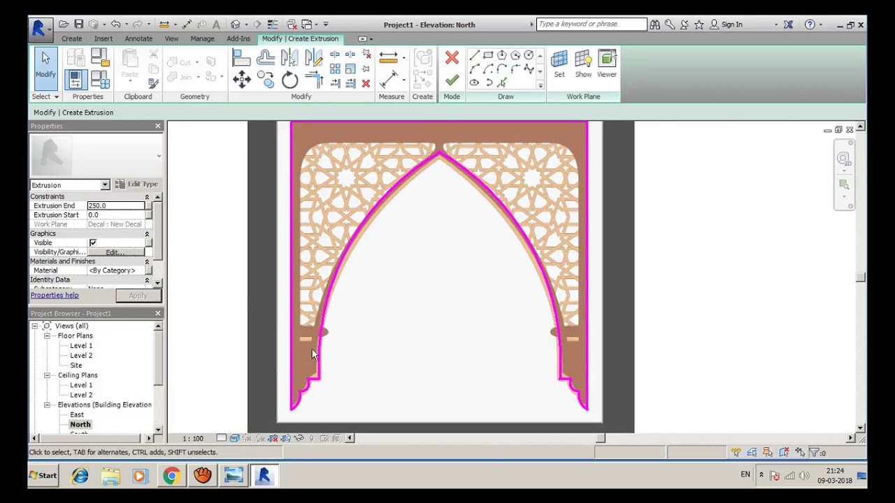 Modeling Islamic Arches for Noobs in Revit Architecture