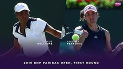 Venus Williams vs. Andrea Petkovic | 2019 BNP Paribas Open First Round | WTA Highlights