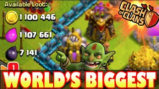 Clash of Clans - WORLD'S BIGGEST MAXED BASE TOP PLAYER LOOT RAID of 2015! Over 2.2 MILLION TOTAL!