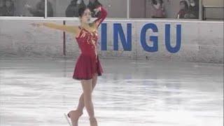 FIgure skating clips of Megumi Smisson 1.) National Junior High Cha...