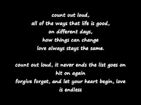 love is endless by mozella lyrics