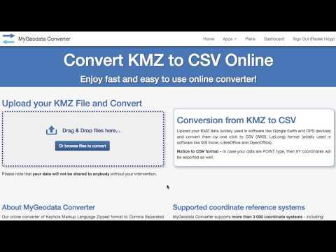 KMZ to LatLong Converter Online - MyGeodata Cloud