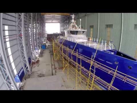 Launching of Damen FCS3307 & overview of 189 Shipyard