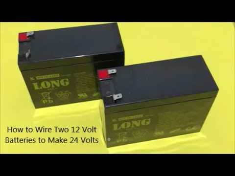 how to wire two 12 volt batteries to make 24 volts youtube. Black Bedroom Furniture Sets. Home Design Ideas