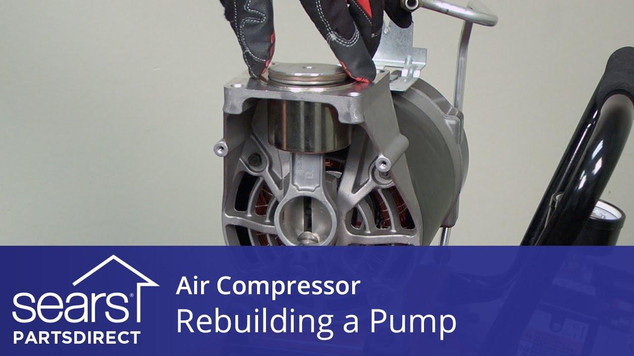How To Rebuild An Air Compressor Pump Youtube