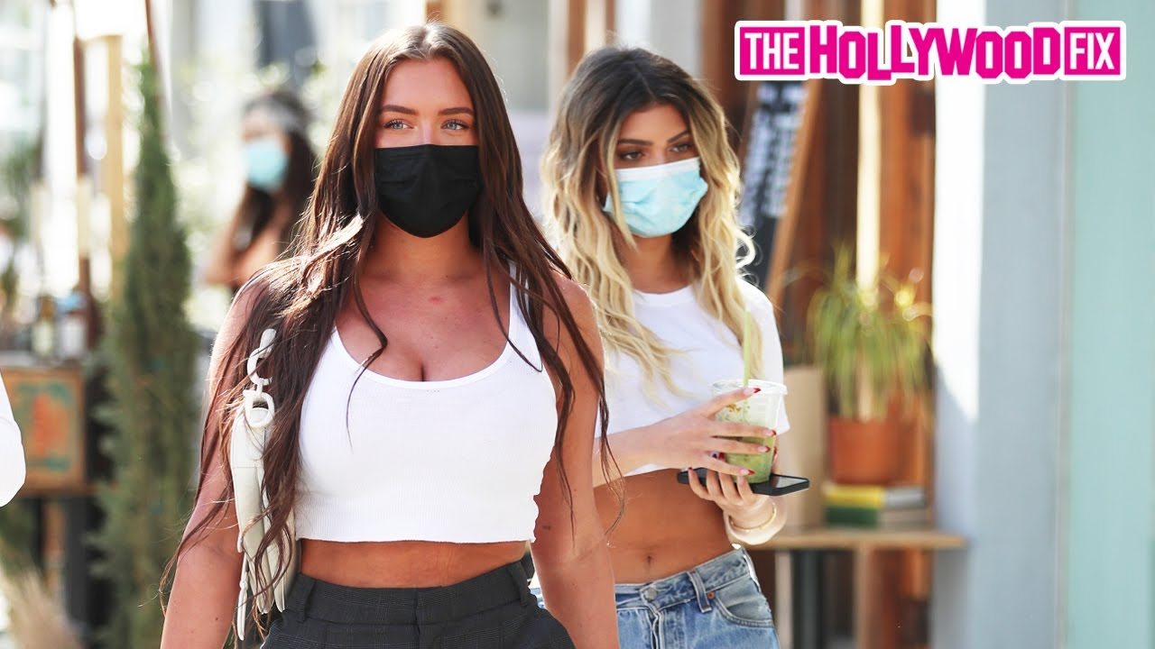 Stassie Baby & Father Kels Joke Around About Kylie Jenner While Leaving Lunch In Beverly Hills