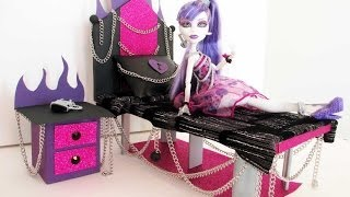 How to make a Spectra Vondergeist Doll Bed Tutorial/ Monster High