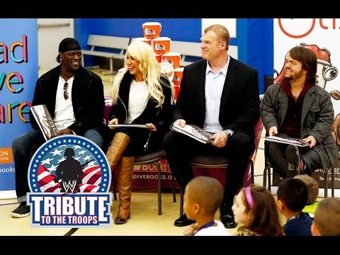 WWE Superstars and Divas participate in a Reading Celebration at Joint Base Lewis-McChord