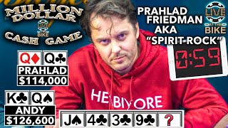 CRAZY RIVER CARD in Million Dollar Cash Game | $121,000 Pot?!? ♠ Live at the Bike!