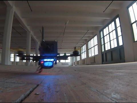 flying FPV in empty loft
