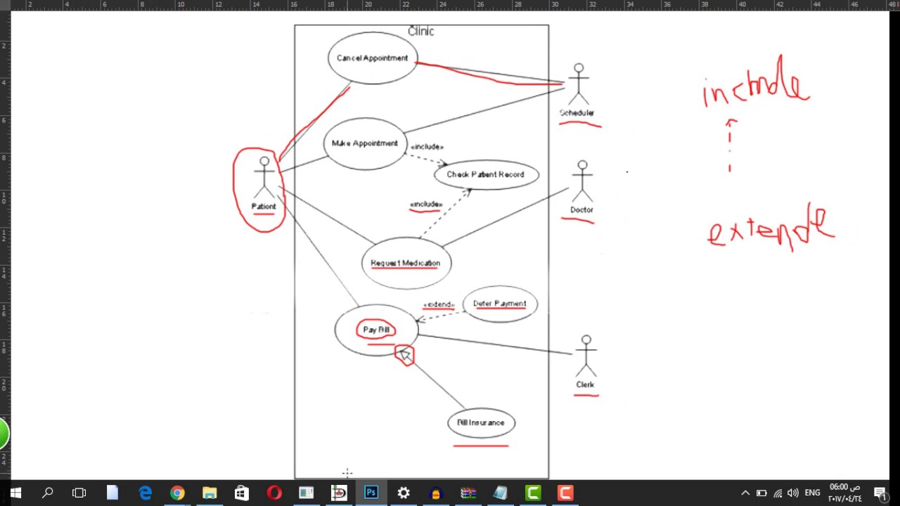 Use Case Diagram ( Clinic ) - Ahmed Atef - YouTube