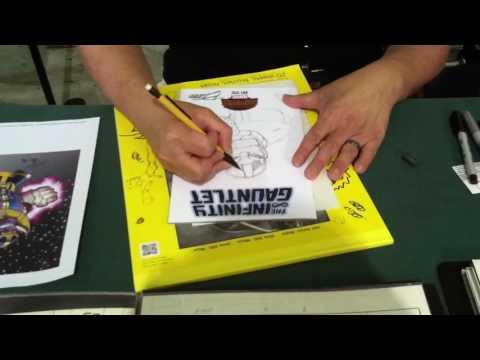 Ron Lim draws THANOS at SAC CON 2016