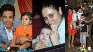 Celebrities attend tusshar kapoor's son's first birthday with taimur ali khan | 2017