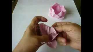 Repeat youtube video 莲花 (Lotus)   折纸 DIY