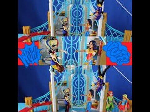 Dc Superhero Girls High School Playset Review Youtube