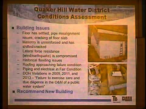 Hyde Park, NY Quaker Hills Water District Meeting 2/3/2015