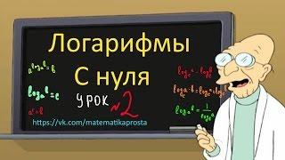Логарифмы с нуля второй урок  Действия с логарифмами .