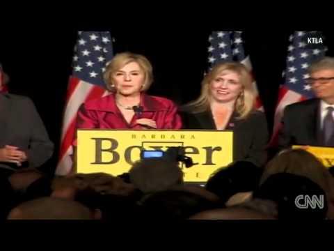 Barbara Boxer's victory speech
