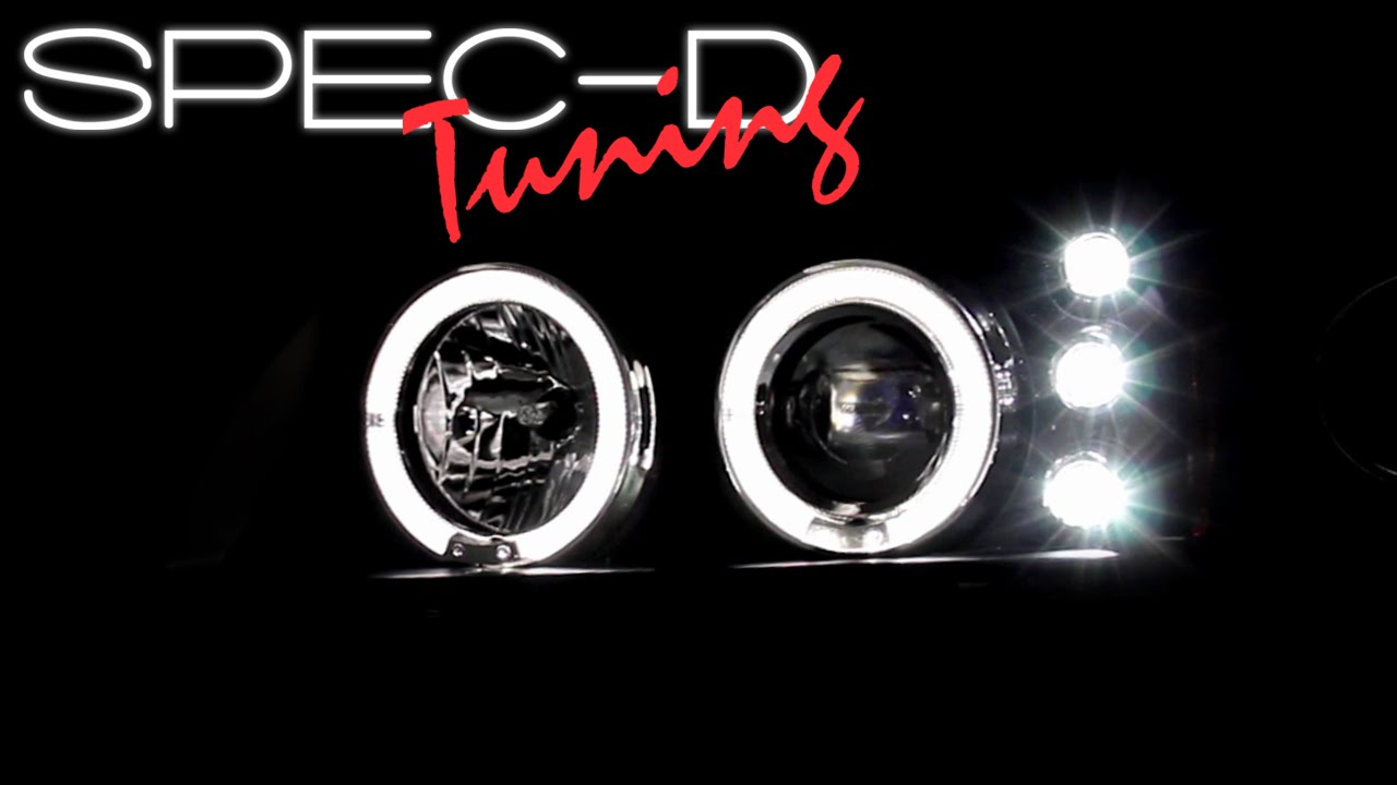 hight resolution of specdtuning demo video 2000 2005 chevy impala halo led project headlights youtube