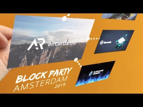 Augmented Reality for Blockchain Event in Amsterdam | Aircards