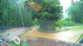 九州北部豪雨ドライブレコーダー映像