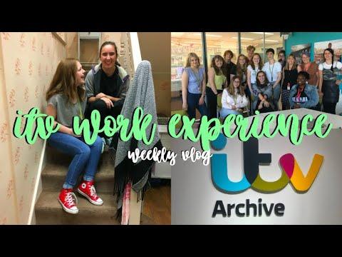 WEEKLY VLOG: ITV WORK EXPERIENCE!!!!!!!!!!!