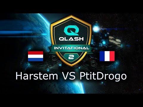Harstem VS PtitDrogo - PvP - Qlash SC2 Invitational - polski komentarz