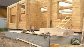 видео Дома и бани из бруса: недорогие деревянные постройки