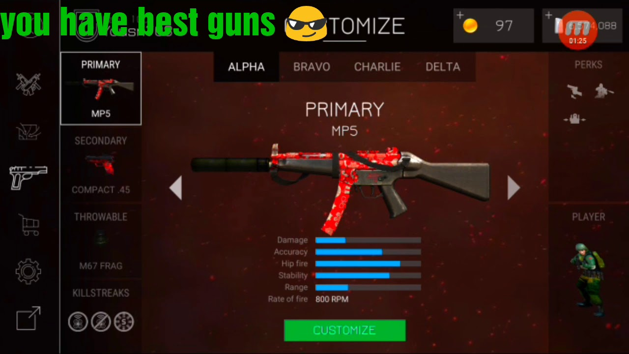 Bullet Force Free Account With All Guns 100 Work Youtube