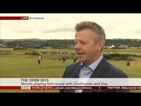 Mike Kerr at The Open on BBC World News