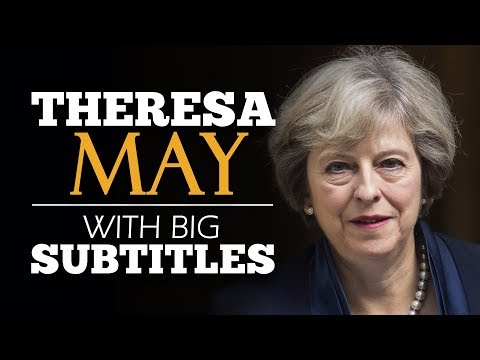 LEARN ENGLISH | THERESA MAY: Britain, the Great Meritocracy (English Subtitles)
