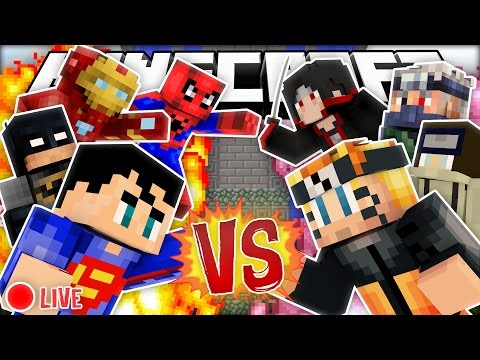 Minecraft Modded Cops N Robbers   NARUTO VS SUPERHEROES!