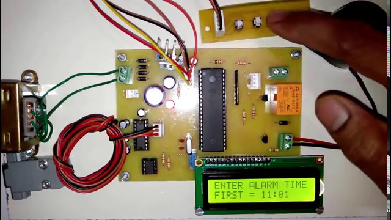 Automatic College Bell School Timer Youtube. Automatic College Bell School Timer. Wiring. School Bell Wire Diagram At Scoala.co