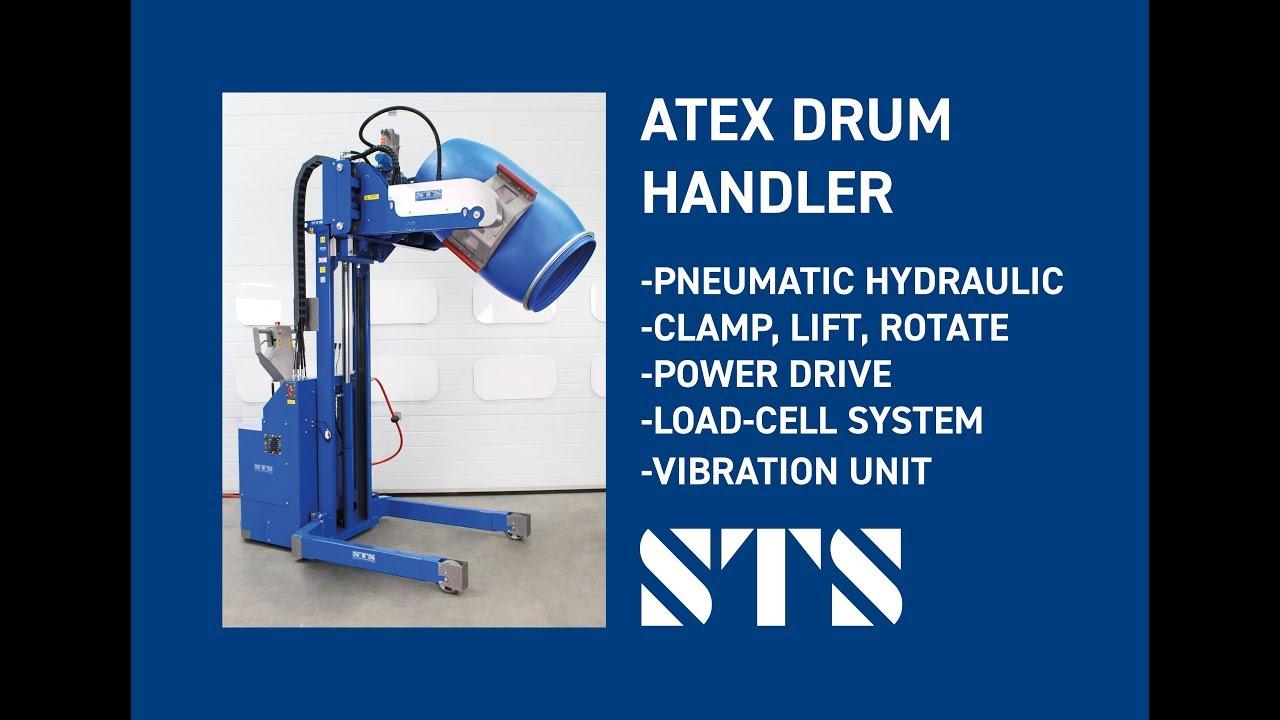 ATEX Pneumatic-Powered Drum Tipper (Model: STP05-RRH01-LC-Ex)