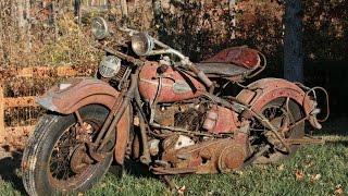 Сокровища забытых гаражей заброшенный Harley Davidson