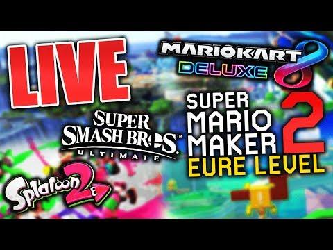 6 STUNDEN Stream - Mario Maker 2, Mario Kart 8 Deluxe & Mehr! (Live-Aufzeichnung)