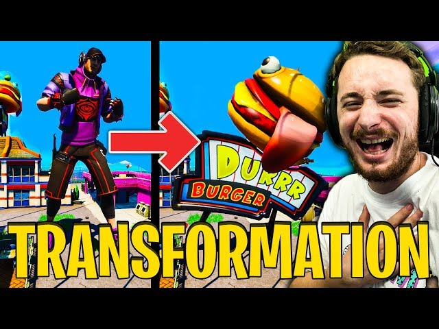 JE ME TRANSFORME EN HAMBURGER GEANT SUR FORTNITE PROP HUNT !!